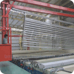 Anodizing line for door and windows system